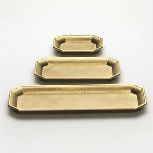 Futagami Brass Stationery, Accessory & Jewellery Tray Set with Velvet Padding
