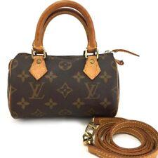 Louis Vuitton Monogram Mini Speedy Hand bag w/Shoulder Strap /10208