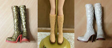 Barbie My Scene Doll Shoes Floral Tall High Heel Fashion Winter Boots - CHOOSE