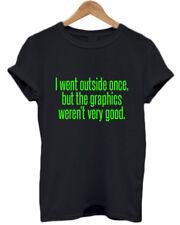 Ich ging nicht einmal, aber die Grafiken waren nicht sehr gut, lustig, Spieler, T-Shirt