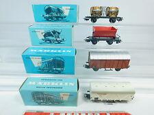 AW916-1# 4x Märklin H0/AC Güterwagen: 4510+4505+4508+4513, sehr gut+OVP
