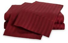 Luxor Style 100% Egyptian Cotton Sheet 400 TC ~ Twin FITTED ONLY ~ Burgundy NEW