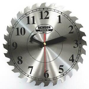 Wanduhr Kreissäge Quarzuhr Sägeblatt Uhr Werkstattuhr Büro Lageruhr