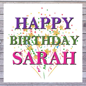 HAPPY BIRTHDAY CARDS personalised with any MALE or FEMALE NAME.