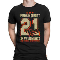 Mens 21st Birthday T-Shirt 21 YEARS OF AWESOMENESS Dad Son Brother Funny Gift