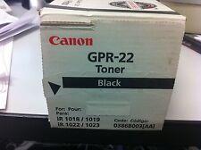ORIGINALE Canon gpr-22 0386b003 TONER IR 1018 1019 1022 1023 NUOVO C