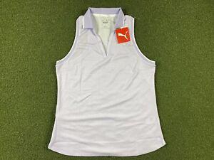 PUMA Sprinter Sleeveless Golf Polo Lavender WMNS SZ S ( 599252 04 )