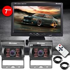 "Car Rear View Kit for Bus Truck 7"" LCD Monitor 2x IR Reversing Camera 18led"