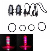 5 Led Usb Rechargeable Bike Tail Light Bicycle Safety Cycling Warning Rear  LaTB