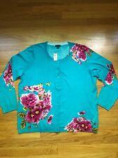 New NWT Talbots Woman Cardigan Sweater  1X