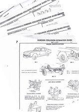 THRU 1973 TRIUMPH GT-6 GT6 MARK I II III BODY PARTS LIST CRASH SHEETS MFRE
