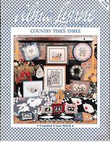 Country Times Three Cross Stitch | Alma Lynne ALX-60 Farm Animals Hearts