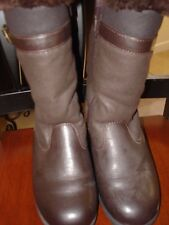 NWOT Womens Brown Basic Editions Sz 7 M Weatherproof Mid-calf Winter Snow Boots