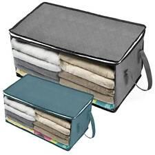 Folding Under Bed Home Clothes Storage Box Bag Zipper Organizer Wardrobe Cube