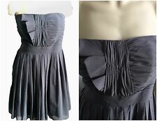 Semi Formal Strapless Cocktail Dress Size 16W 18W  Gray Double Lined Empire Cut