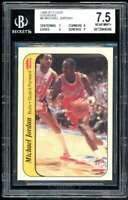 Michael Jordan Rookie Card 1986-87 Fleer Stickers #8 BGS 7.5 (7 9 9 9)