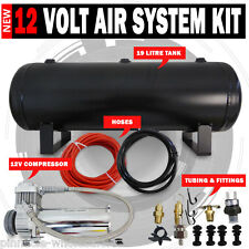NEW 12v Air Compressor 19L Tank kit Airbag, Tyre Inflator 120Psi 1.75Cfm
