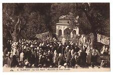 CPA ALGERIE - TLEMCEN - 16. Au bois sacré. Mausolée de Sidi Louahb (animée)