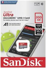 SanDisk 200 Go 100Mo/s Ultra Class A1 UHS-I SD Full HD Video SDHC Carte mémoire
