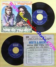 LP 45 7'' MOUTH & MACNEAL How do you do? Land of milk and honey no cd mc dvd