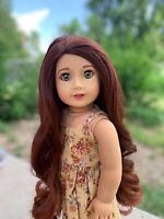 """OOAK NEW Custom CYO American Girl Doll """"Beth"""" - Red Hair, Green Eyes, Makeup"""