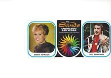Las Vegas NV Panoramic Postcard, Debbie Reynolds and Doc Severinsen at the Sands