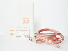 2X 6ft Rose Gold iPhone cable iPhone Charger Cable iPhone X iPhone 8 iPhone 7 6s