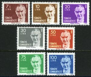 Turkey 2137-2141, MI 2533-2537,2572,2578, MNH. Kemal Ataturk, 1980-1982