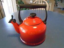Le Creuset Red Whistling Tea Kettle 2.2 Quarts/2.1 Liters
