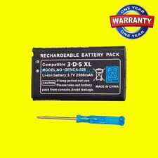 New 3.7V Rechargeable Li-ion Battery Pack + Tool Kit for Nintendo 3DS LL/XL Game