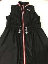Hunter dress Black With  Front Zipper And Hood XL New