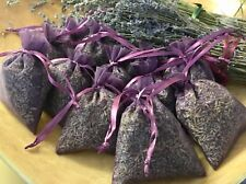 12 Fragrant  Dried French Lavender Sachets Lavender Bags  FREE SHIP