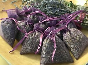 12  Dried Lavender Sachets Lavender Bags purple organza LAVENDER favors FREE SH