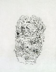 """DDR-Kunst """"Morgengrauen"""" Radierung Osmar OSTEN (B. Münzner *1959 D) handsigniert"""
