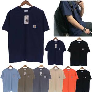 Carhartt Mens Work Pocket Summer Short Sleeve Rib Knit Cotton T-Shirt Summer Tee