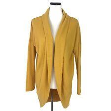 NWT Socialite Cocoon Waffle Knit Long Sleeve Cardigan Sweater Yellow