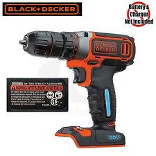 """Black & Decker BDCDDBT120C 20V MAX SMARTECH Li-Ion 3/8"""" Drill Driver BDCDDBT120"""