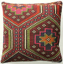 (60*60cm, 24 inches) Large Kilim Floor Sofa Cushion Cover Handwoven thick weave