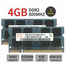 8GB 2x 4G PC2-6400 DDR2-800MHz 200Pin SODIMM 16chips Laptop Memory RAM For Hynix
