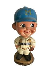 VINTAGE 1967 NODDER MILWAUKEE BREWERS GOLD BASE BOBBLEHEAD SPORTS SPECIALITIES