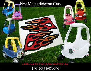 The Toy Restore Hot Rod Flames DIY Custom Replacement Stickers Ride-on Car Truck