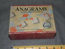 Vintage Anagrams & Other Educational Games 1935 Harter Publishing Co.
