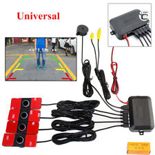 Car Video Parking Reverse Backup Assistant Radar Alarm System+4pcs Flat Sensors