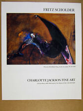 1989 Fritz Scholder 'possession with broken wing' painting vintage print Ad