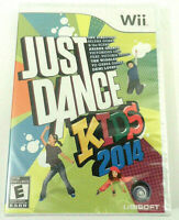 JUST DANCE KIDS 2014 NINTENDO Wii VIDEO GAME DISC MANUAL CASE BRAND NEW SEALED