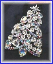 signed Swarovski~ 2007 Rockefeller Center~ CHRISTMAS TREE PIN Brooch~ New~Lovely