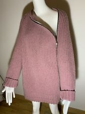 Calvin Klein Main Line 100% Wool Zipped Oversized Jumper Sweater Size S NEW!