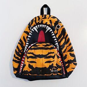 Rusty Surfwear Tiger Shark Orange Backpack Bag