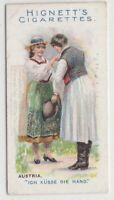 Native Austrian Man And Woman Greeting Clothing Fashions 100+ Y/O Trade Ad Card
