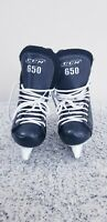 ⭐️ CCM 650 Powerline Black White Ice Hockey Skates Size 3 Great Condition